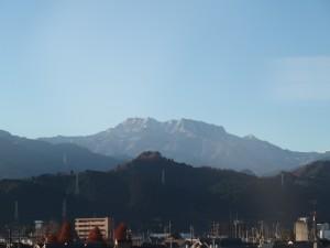 雪化粧の石鎚山
